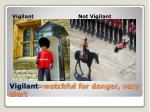 vigilant watchful for danger very alert
