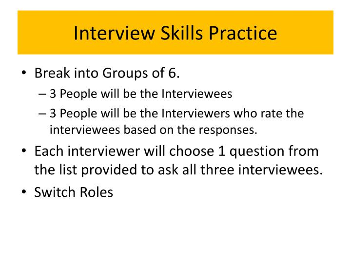 Interview Skills Practice