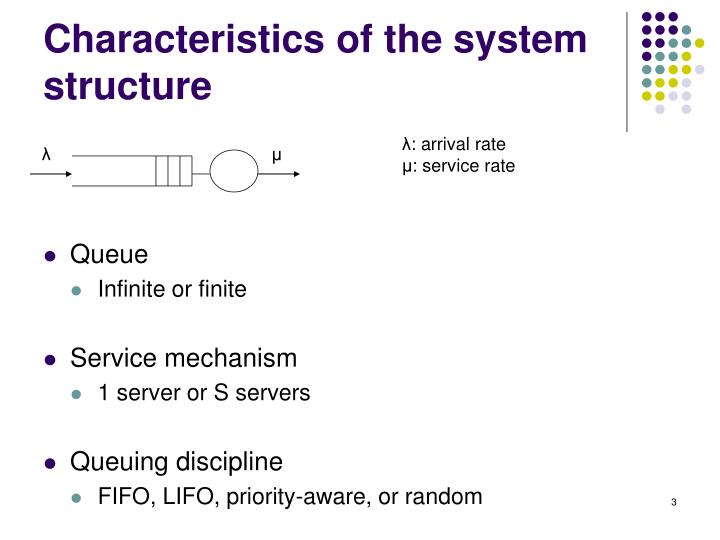 Characteristics of the system structure