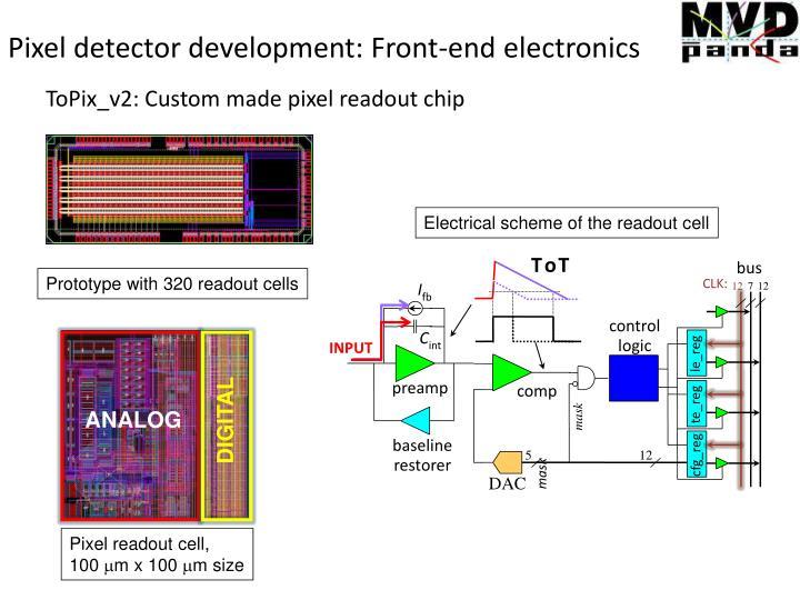 Pixel detector development: Front-end electronics