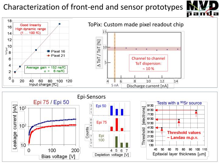 Characterization of front-end and sensor prototypes