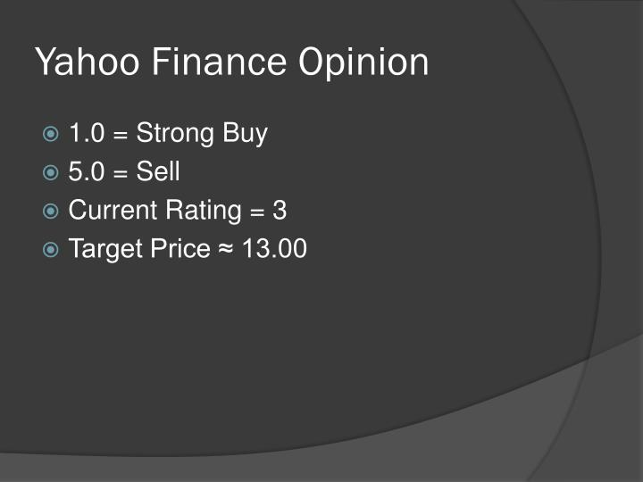 Yahoo Finance Opinion