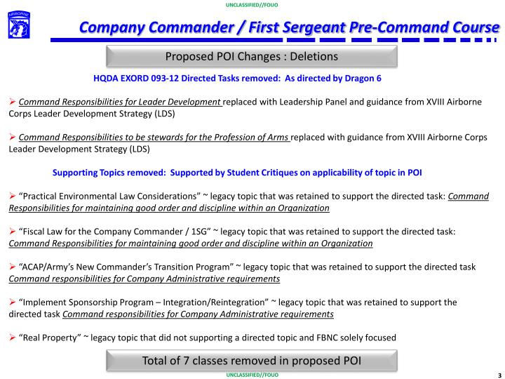 Company commander first sergeant pre command course1
