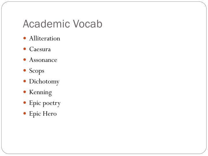 Academic Vocab