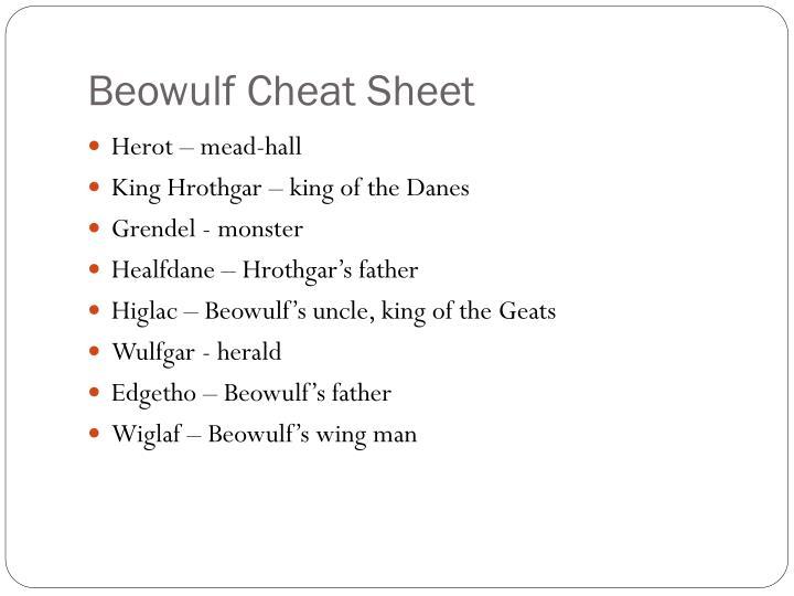 Beowulf Cheat Sheet