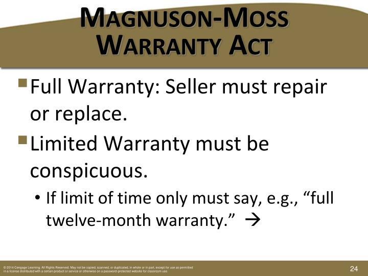 Magnuson-Moss