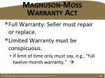 magnuson moss warranty act1