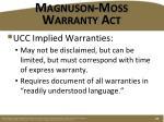magnuson moss warranty act2