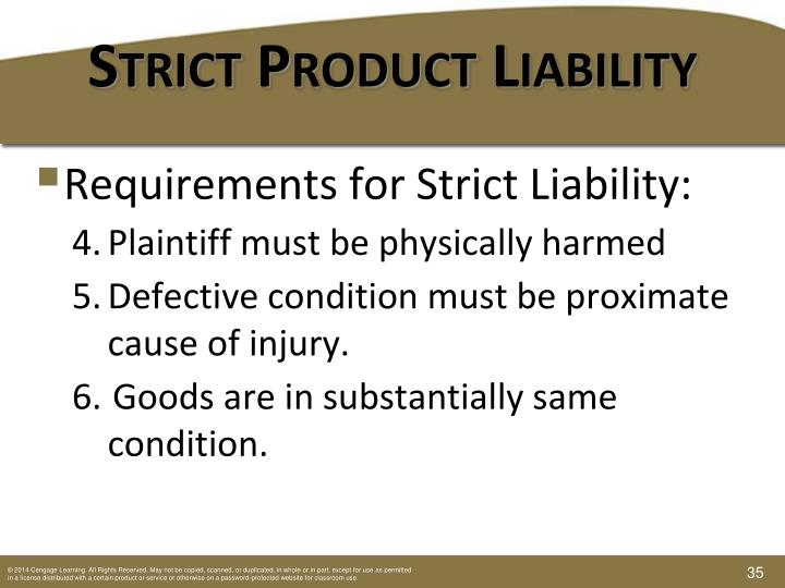Strict Product Liability