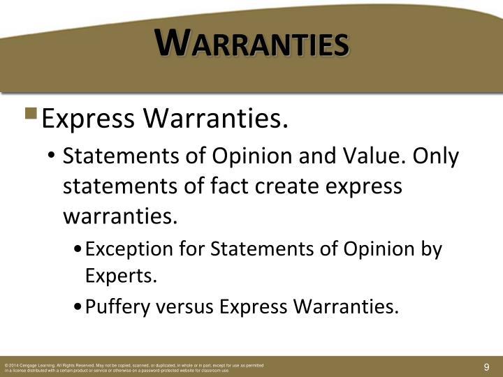 Warranties