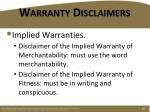 warranty disclaimers2