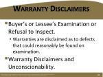 warranty disclaimers3
