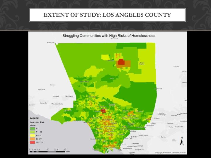 Extent of Study: Los Angeles County