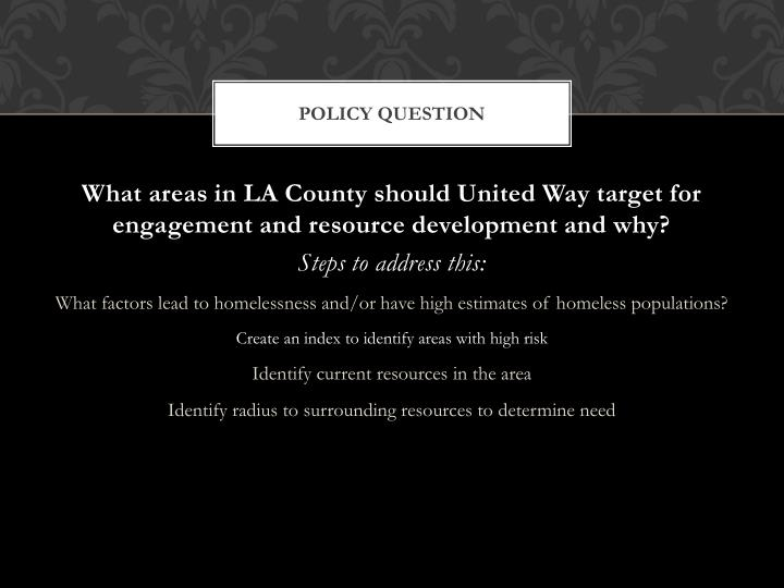 Policy question