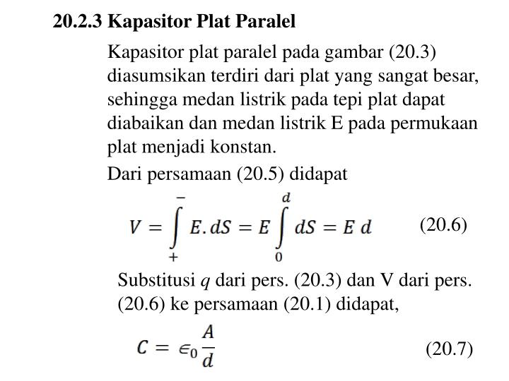 20.2.3 Kapasitor Plat Paralel