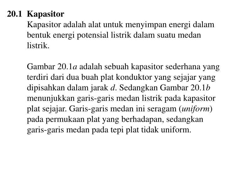 20.1  Kapasitor