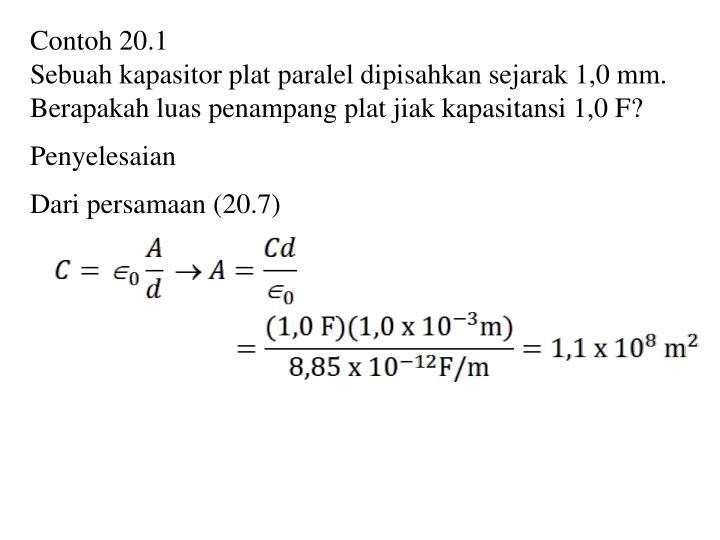 Contoh 20.1