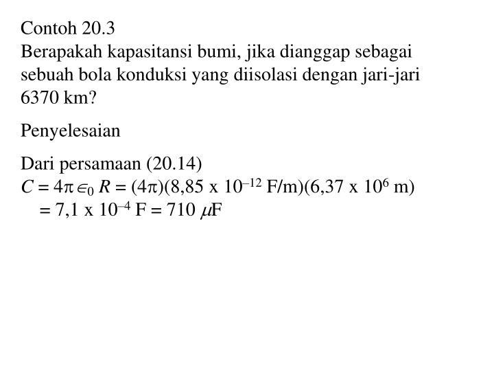 Contoh 20.3
