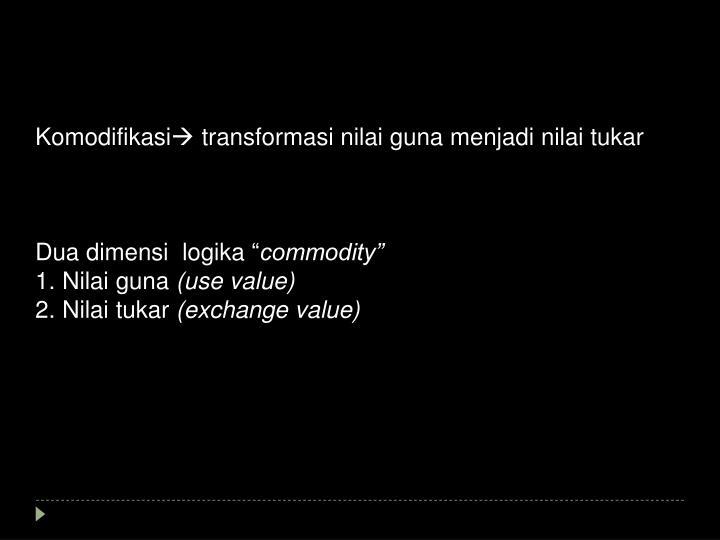 Komodifikasi