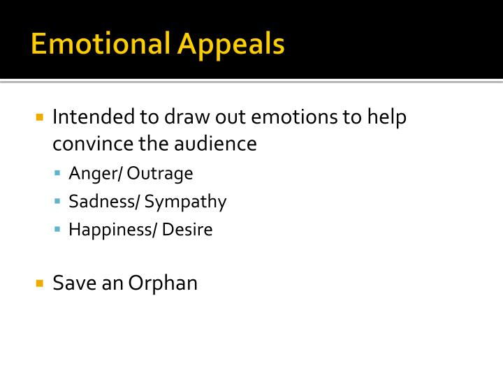 Emotional Appeals