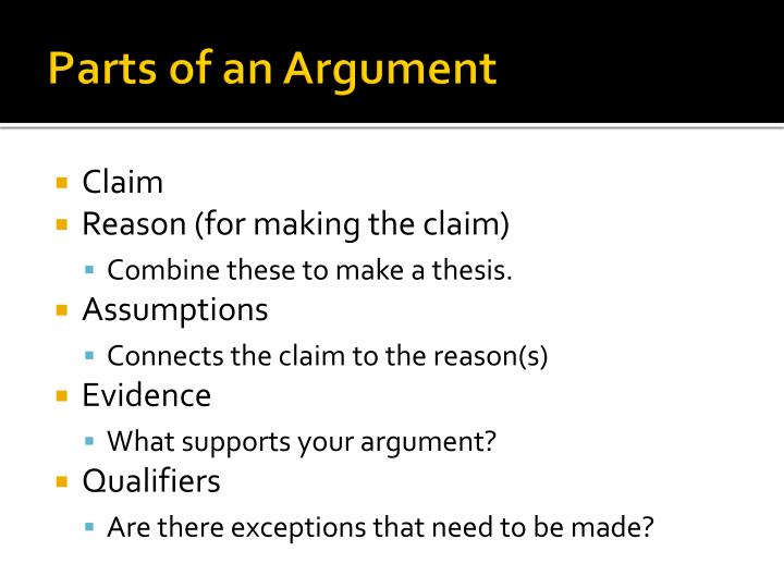 Parts of an Argument