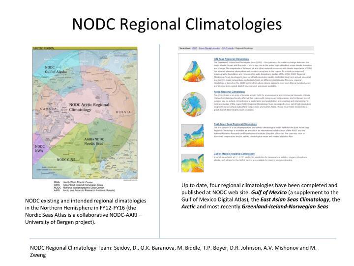 NODC Regional Climatologies