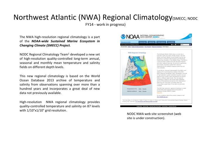 Northwest Atlantic (NWA) Regional Climatology