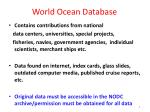 world ocean database