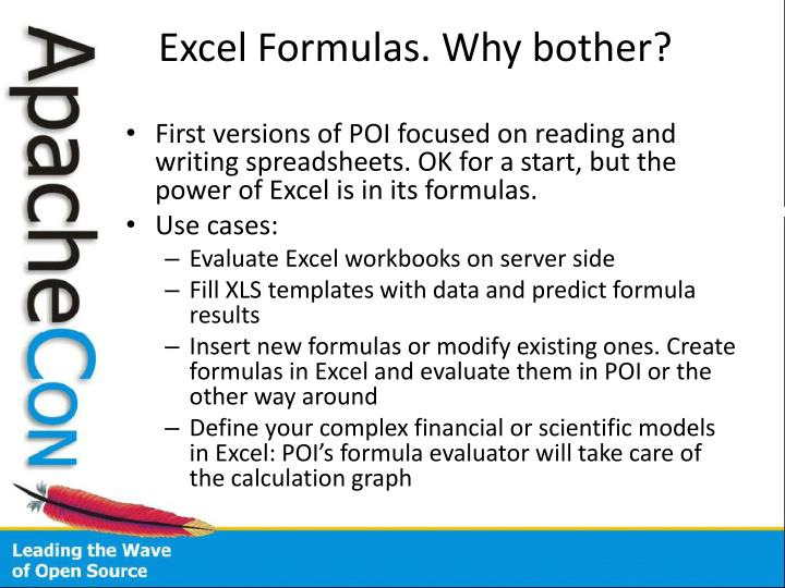 Excel Formulas. Why bother?