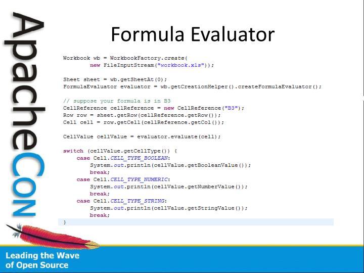 Formula Evaluator