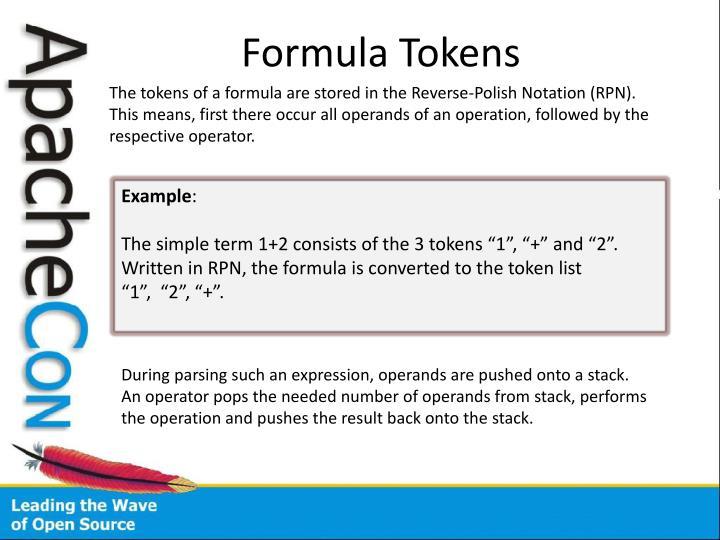 Formula Tokens