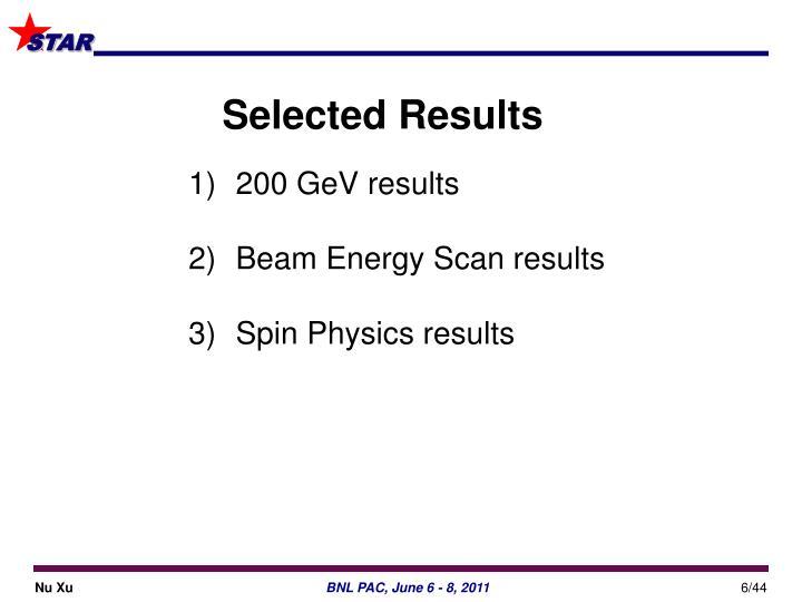200 GeV results