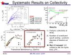 systematic results on collectivity