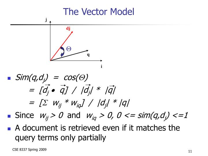 The Vector Model