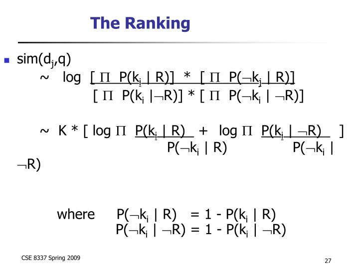 The Ranking