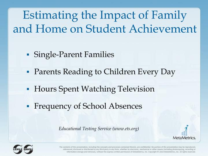 Estimating the Impact of Family and Home on Student Achievement