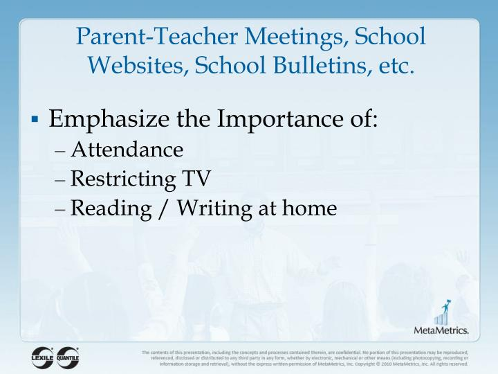 Parent-Teacher Meetings, School
