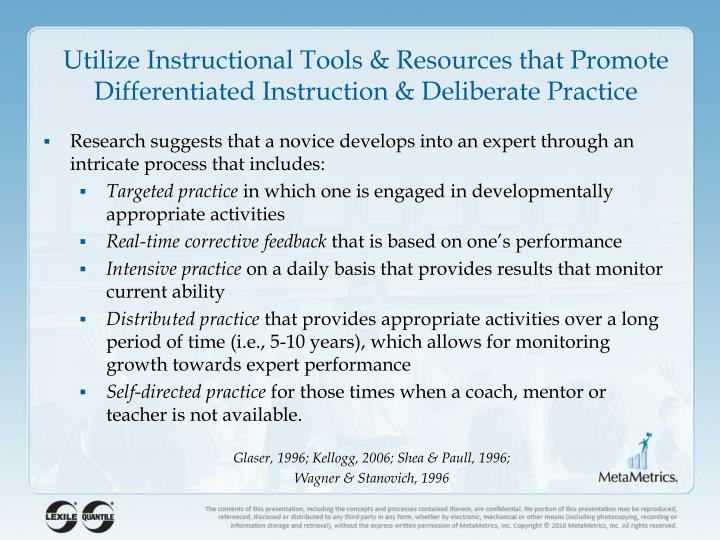 Utilize Instructional Tools &