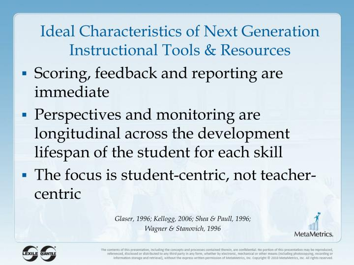 Ideal Characteristics of Next Generation Instructional