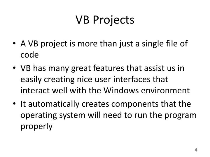 VB Projects