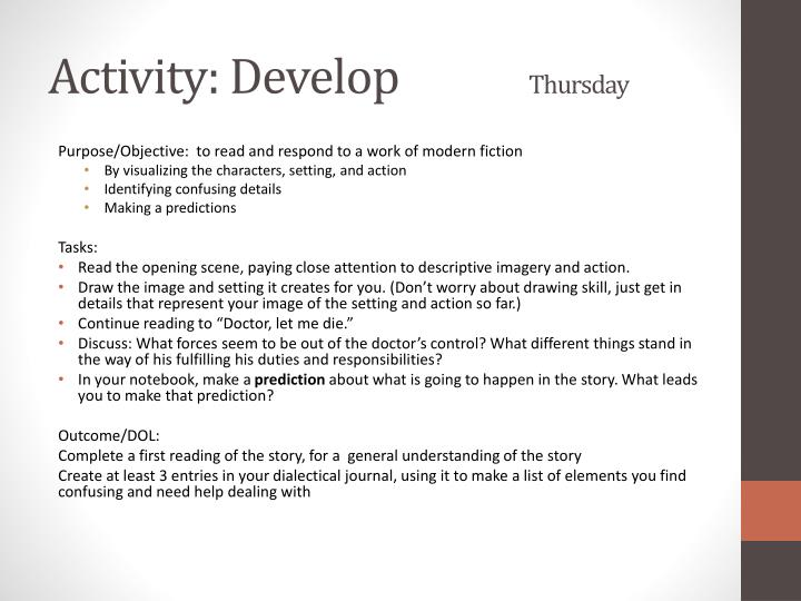 Activity: Develop