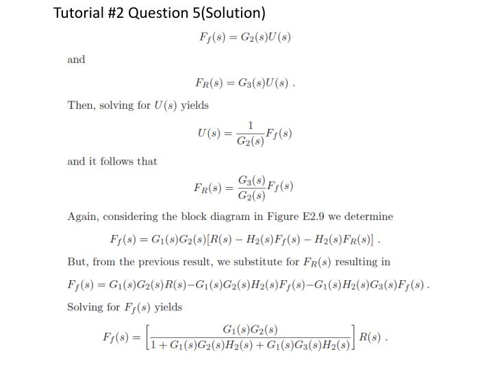 Tutorial #2 Question 5(Solution)
