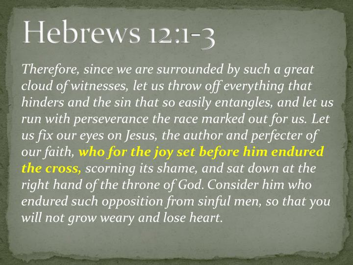 Hebrews 12:1-3