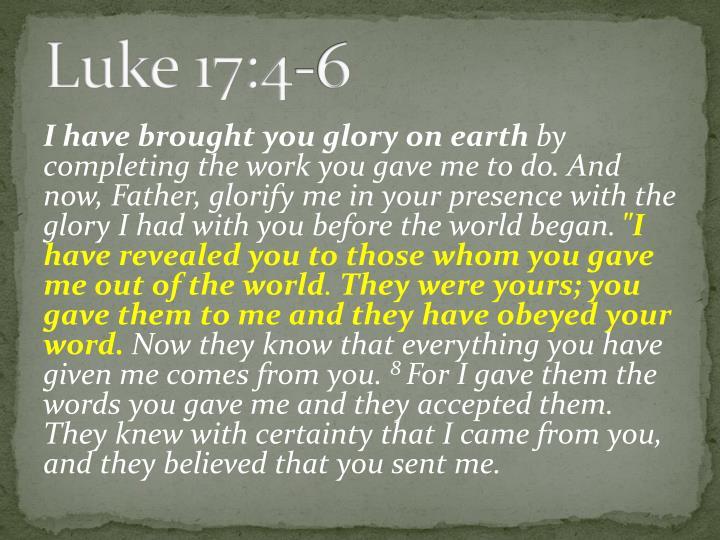 Luke 17:4-6