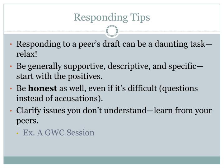 Responding Tips