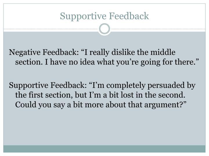 Supportive Feedback