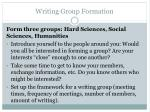 writing group formation