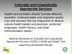 culturally and linguistically appropriate services1