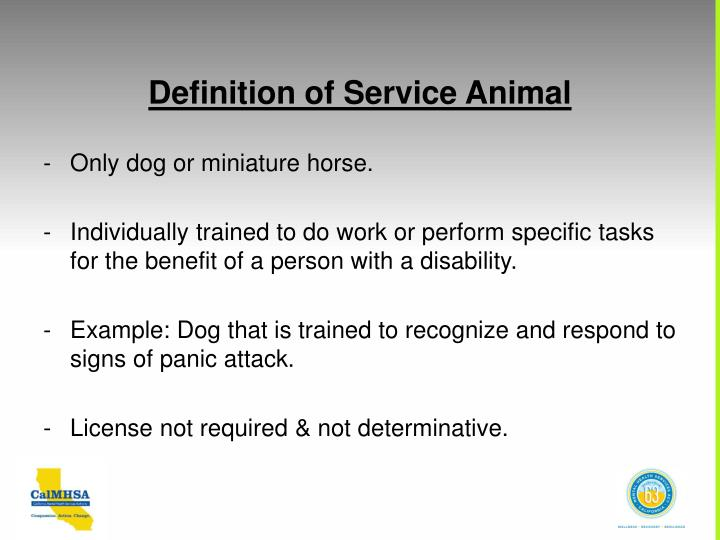 Definition of Service Animal
