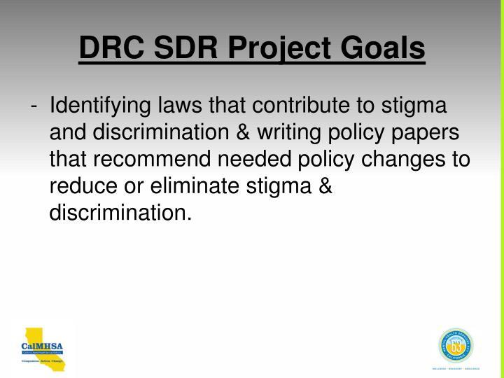 DRC SDR Project Goals